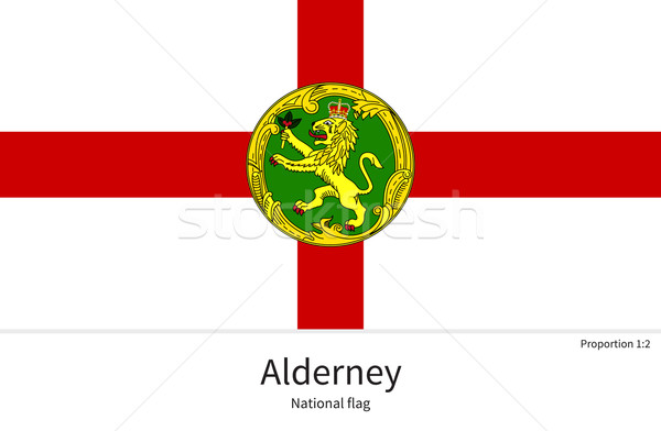 National flag of Alderney with correct proportions, element, colors Stock photo © tkacchuk