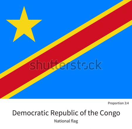 National flag Democratic Republic of the Congo with correct proportions, element, colors Stock photo © tkacchuk