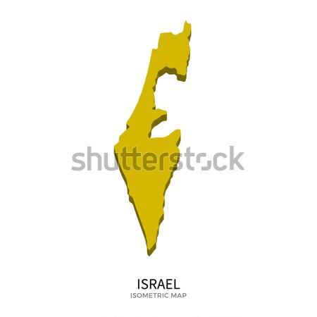 Izometrikus térkép Izrael részletes izolált 3D Stock fotó © tkacchuk