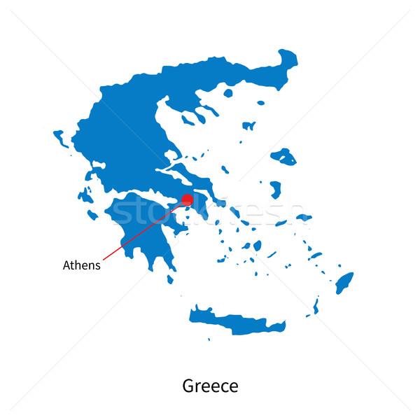 詳しい ベクトル 地図 ギリシャ 市 アテネ ストックフォト © tkacchuk