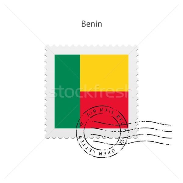 Benin Flag Postage Stamp. Stock photo © tkacchuk