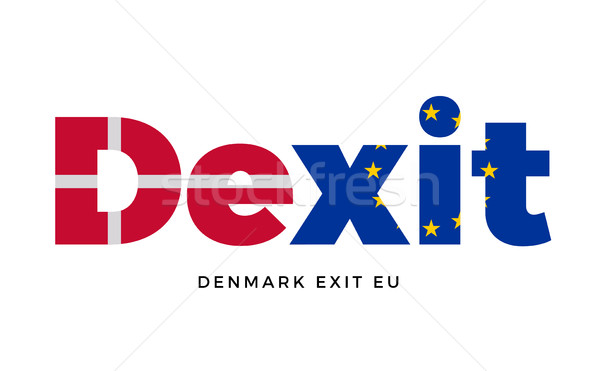 Uitgang europese unie referendum vector geïsoleerd Stockfoto © tkacchuk