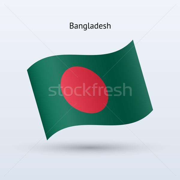 Banglades zászló integet űrlap szürke felirat Stock fotó © tkacchuk