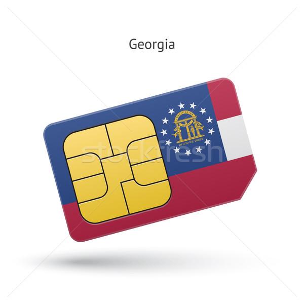 Georgië telefoon kaart vlag business technologie Stockfoto © tkacchuk