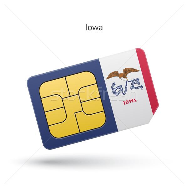 Iowa telefon kártya zászló üzlet technológia Stock fotó © tkacchuk