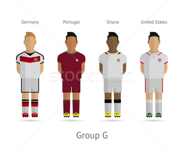 Football teams. Group G - Germany, Portugal, Ghana, United States Stock photo © tkacchuk