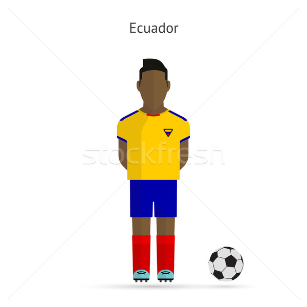 National football player. Ecuador soccer team uniform. Stock photo © tkacchuk