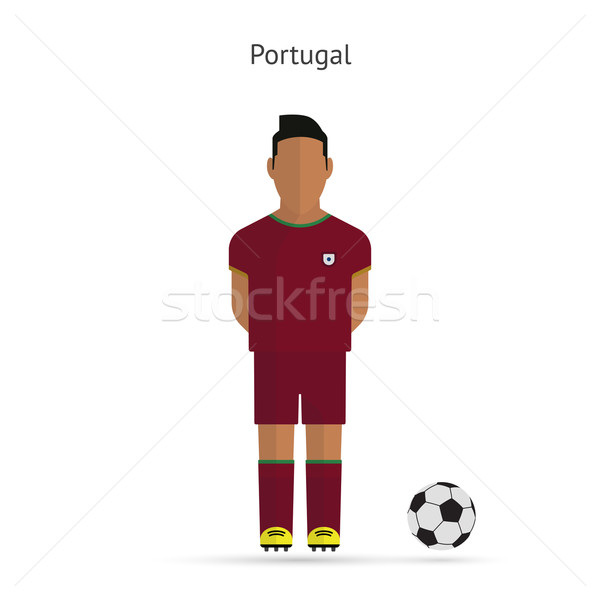 National football player. Portugal soccer team uniform. Stock photo © tkacchuk