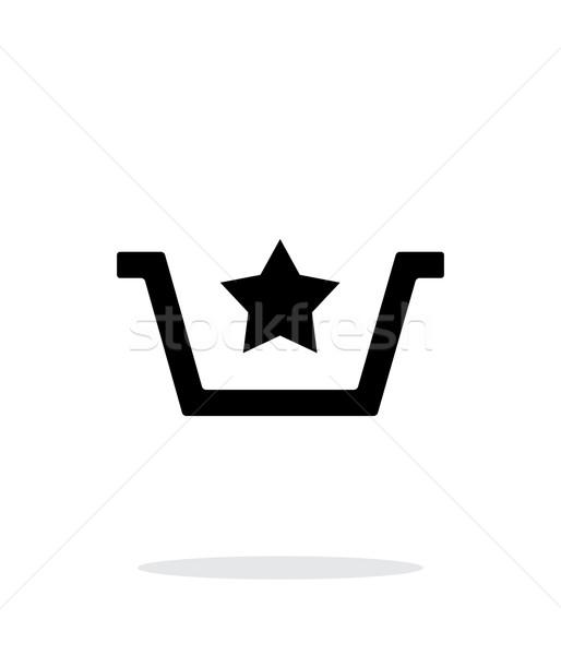 Favorites in basket simple icon on white background. Stock photo © tkacchuk