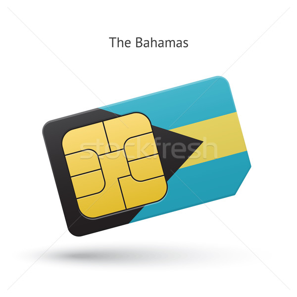 Bahamas mobile phone sim card with flag. Stock photo © tkacchuk