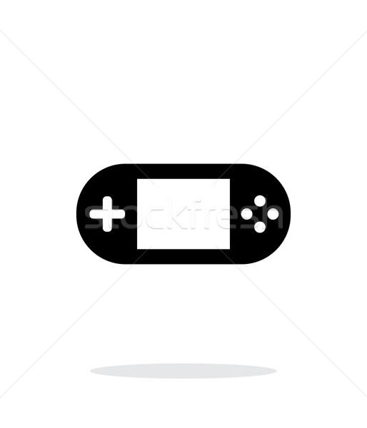 Gamepad schermo semplice icona bianco internet Foto d'archivio © tkacchuk
