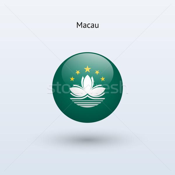 Macau round flag. Vector illustration. Stock photo © tkacchuk