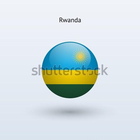 Руанда флаг серый знак веб путешествия Сток-фото © tkacchuk