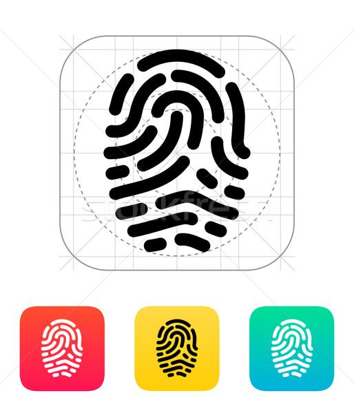 Palców skaner ikona strony bezpieczeństwa informacji Zdjęcia stock © tkacchuk