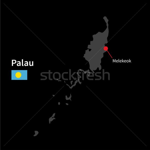 詳しい 地図 パラオ 市 フラグ 黒 ストックフォト © tkacchuk