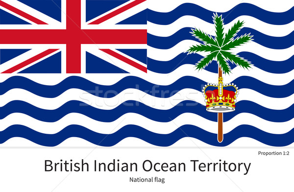 National flag of British Indian Ocean Territory with correct proportions, element, colors Stock photo © tkacchuk