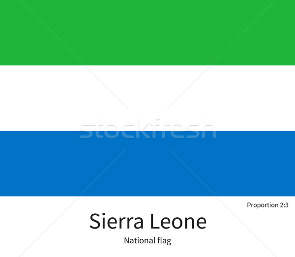 National flag of Sierra Leone with correct proportions, element, colors Stock photo © tkacchuk