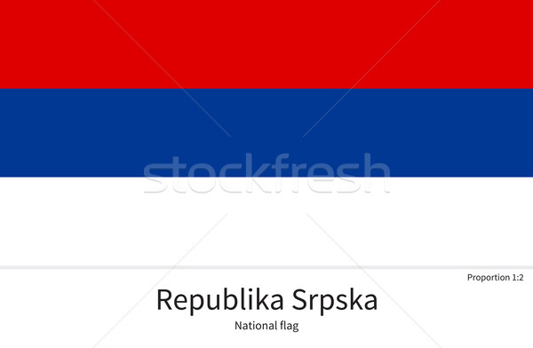 National flag of Republika Srpska with correct proportions, element, colors Stock photo © tkacchuk