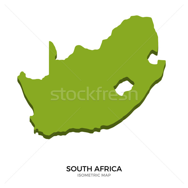 Isometric map of South Africa detailed vector illustration Stock photo © tkacchuk