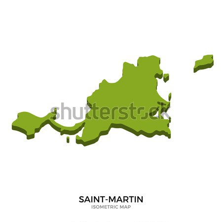 Isometric map of Saint-Martin detailed vector illustration Stock photo © tkacchuk