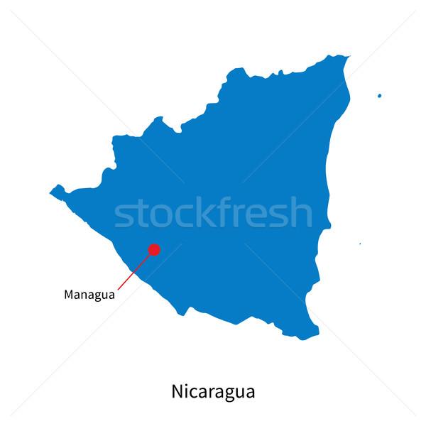 Detalhado vetor mapa Nicarágua cidade mundo Foto stock © tkacchuk