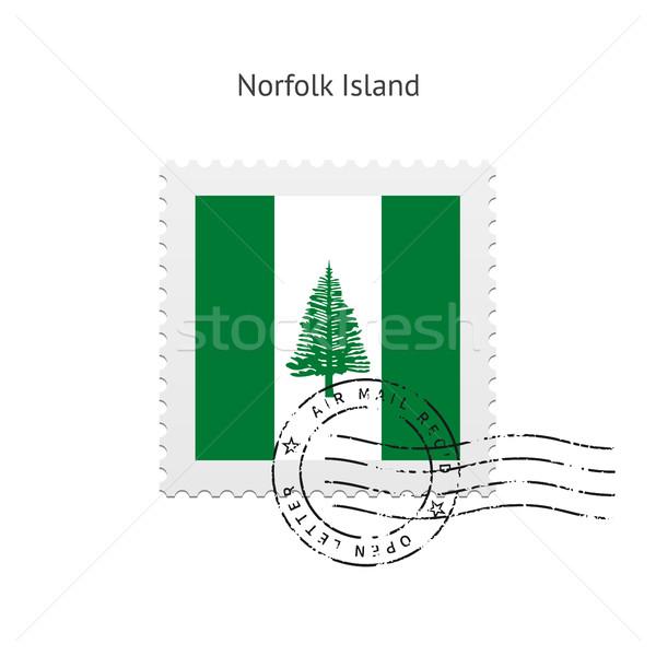 Norfolk isla bandera blanco signo Foto stock © tkacchuk