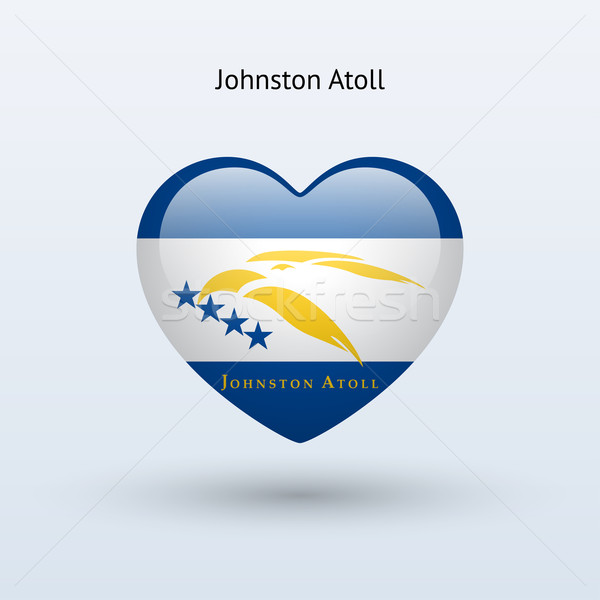 Love Johnston Atoll symbol. Heart flag icon. Stock photo © tkacchuk