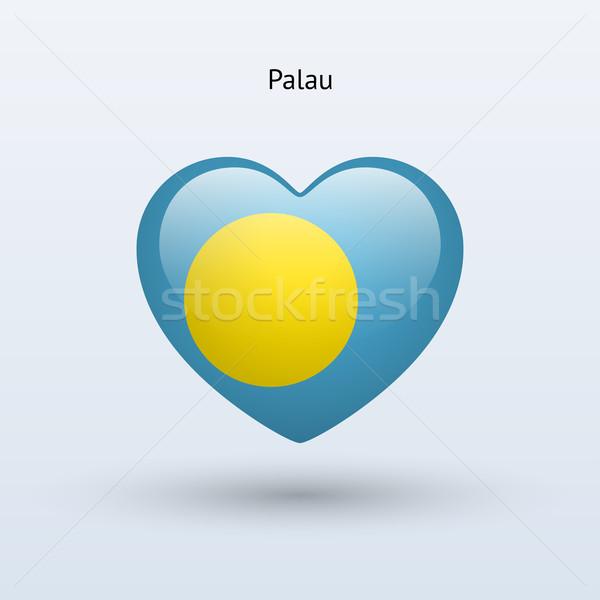 愛 パラオ シンボル 中心 フラグ アイコン ストックフォト © tkacchuk