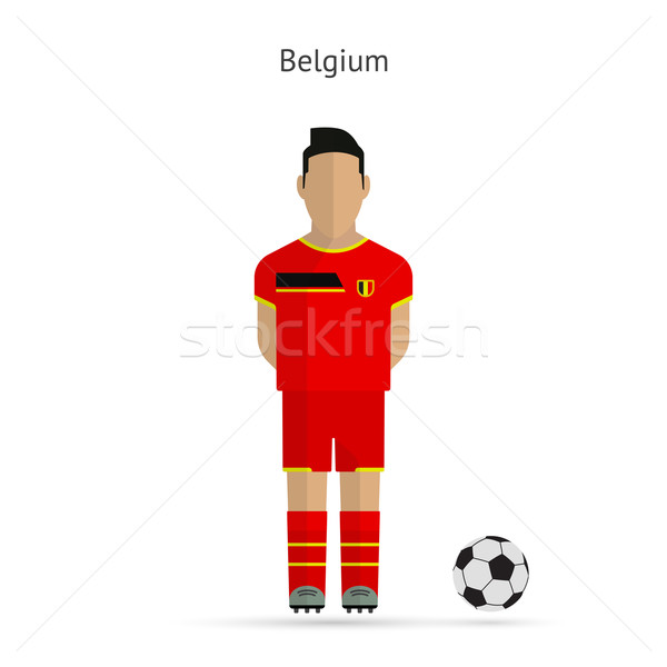 National football player. Belgium soccer team uniform. Stock photo © tkacchuk