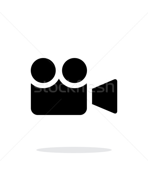 Camera simple icon on white background. Stock photo © tkacchuk