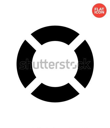Stock photo: Lifebuoy icon on white background.