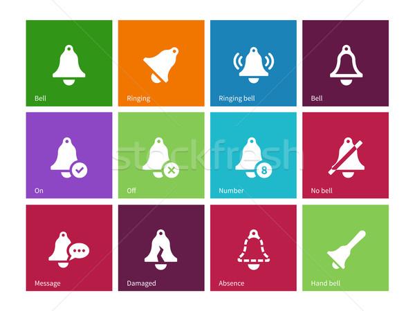 Alarm Glocke Symbole Farbe Metall Zeichen Stock foto © tkacchuk