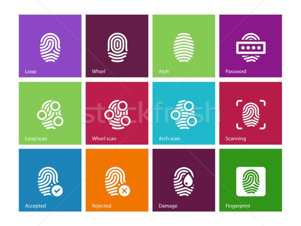 指 アクセス アイコン 色 デザイン にログイン ストックフォト © tkacchuk