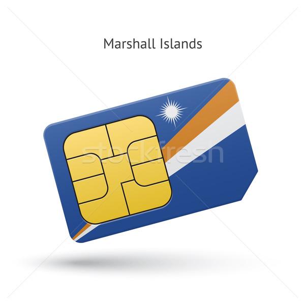 Telefonu komórkowego karty banderą działalności projektu Zdjęcia stock © tkacchuk