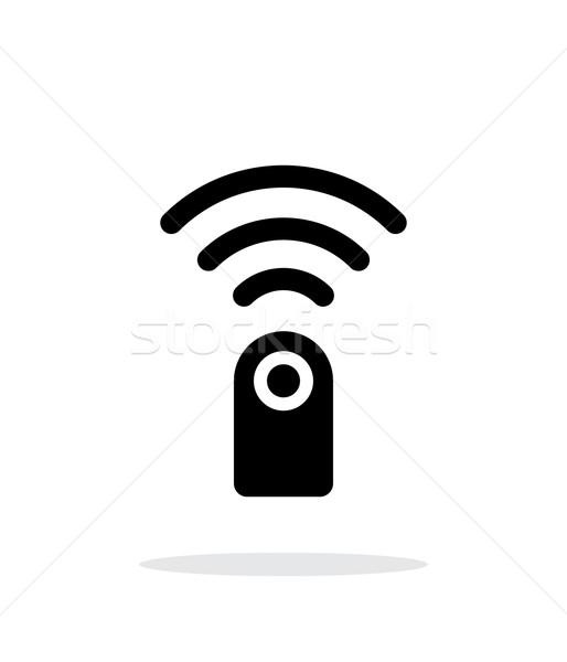 Távirányító egyszerű ikon fehér technológia felirat Stock fotó © tkacchuk