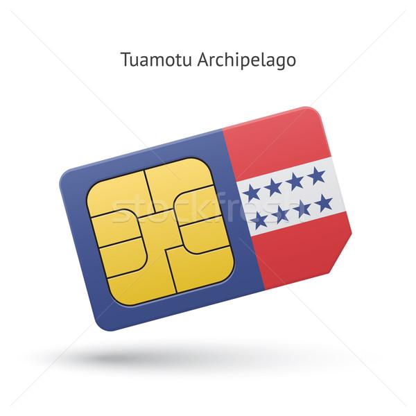Szigetvilág telefon kártya zászló üzlet terv Stock fotó © tkacchuk