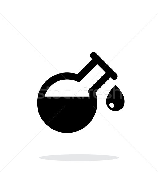 Drop from florence flask simple icon on white background. Stock photo © tkacchuk