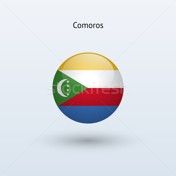 Comoros round flag. Vector illustration. Stock photo © tkacchuk