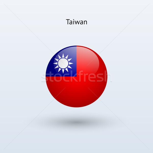 Tayvan bayrak gri imzalamak web seyahat Stok fotoğraf © tkacchuk
