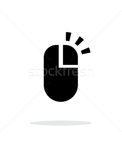 Right click mouse icon on white background. Stock photo © tkacchuk