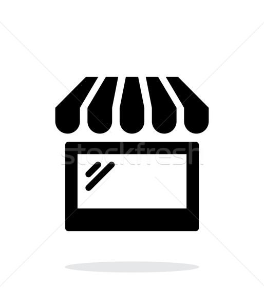 Storefront shop glass case icon on white background. Stock photo © tkacchuk