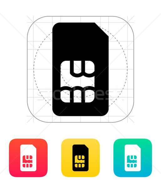 Standart kart ikon Internet ağ anahtar Stok fotoğraf © tkacchuk