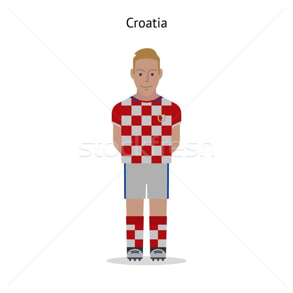 Fútbol Croacia futbolista forma fútbol Foto stock © tkacchuk