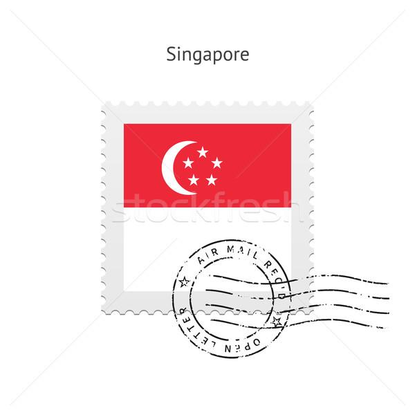 Singapore Flag Postage Stamp. Stock photo © tkacchuk