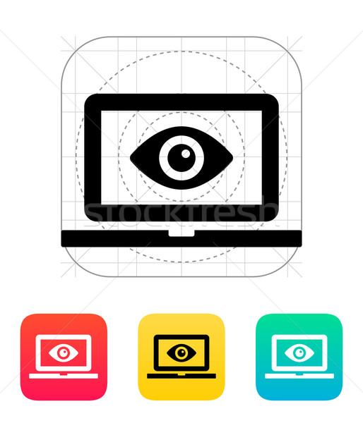 Laptop monitoring icon. Stock photo © tkacchuk