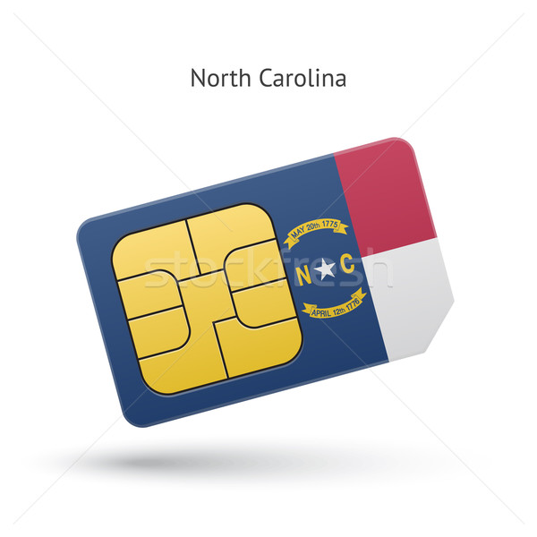 North Carolina telefoon kaart vlag business technologie Stockfoto © tkacchuk