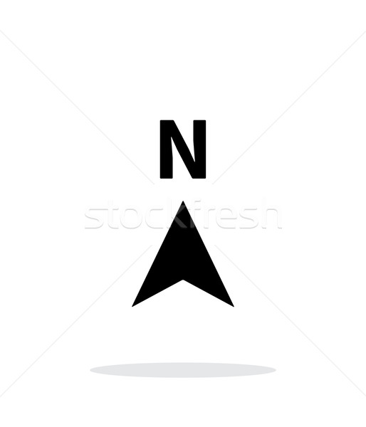 North direction compass icon on white background. Stock photo © tkacchuk