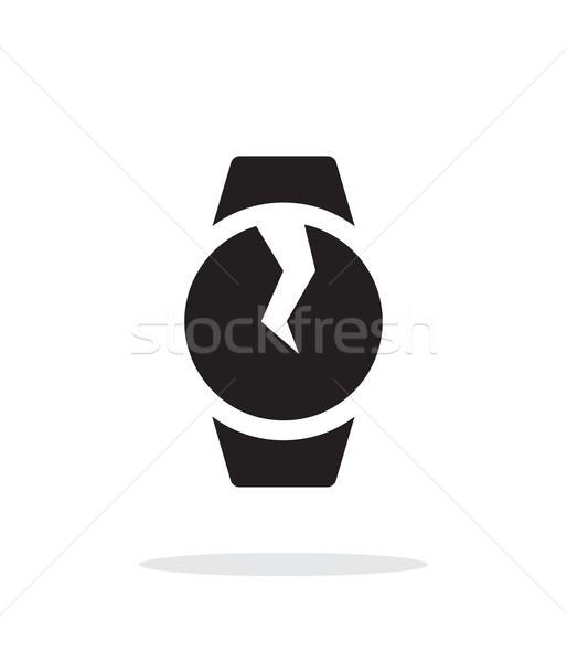 Broken round smart watch simple icon on white background. Stock photo © tkacchuk