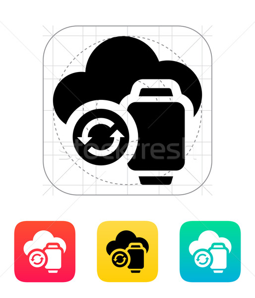 Smart watches sync with cloud icon. Stock photo © tkacchuk