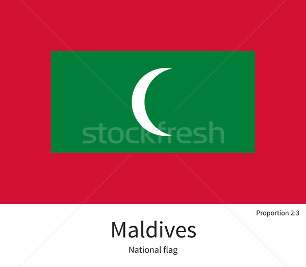 National flag of Maldives with correct proportions, element, colors Stock photo © tkacchuk